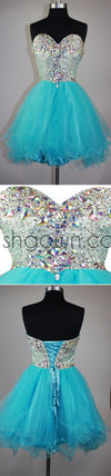 Strapless sweetheart sparkly mini cute for teens cocktail homecoming prom gowns dress,BD0082