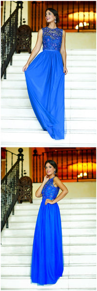 Royal Blue Long Affordable Charming Custom Discount Prom Dresses, PD0120
