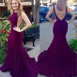 New Arrival Elegant Backless Sexy Mermaid Evening Inexpensive Long Prom Dress, PD0123