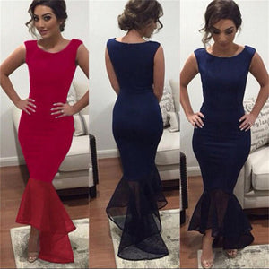 Newest Sexy Mermaid Red Cheap Charming Royal Blue Evening Long Prom Dress, PD0058