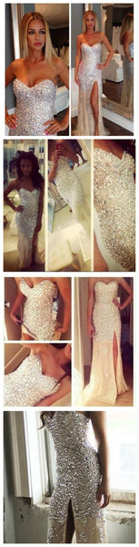 Long Charming Sparkle Sweet Heart Gorgeous Mermaid Party Long Evening Prom Dresse, PD0098