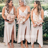 Sexy V-neck  Split Side Long Bridesmaid Dresses YPS120