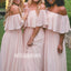 Elegant Sabrina Pink Chiffon Long Bridesmaid Dresses YPS124