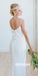 Elegant White V-neck  Spaghetti Strap Short Bridesmaid Dresses, YPS135