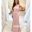 Pretty Pink One-shoulder Mermaid Long Bridesmaid Dresses, YPS139