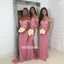 Elegant Rose Off-the-shoulder Mermaid Long Bridesmaid Dresses, YPS145