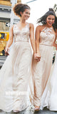 Charming A-line Formal Long Bridesmaid Dresses YPS103