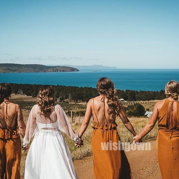 Popular Mismatched Styles Long Bridesmaid Dresses YPS113