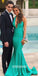 Halter Mermaid V-neck Long Bridesmaid Dresses YPS105