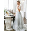 2 Pieces Charming Lace Top Tulle Short Sleeves Long Wedding Bridesmaid Dresses, WG467