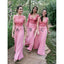 Mismatched Pretty Applique Formal Long Wedding Bridesmaid Dresses, WG457