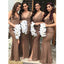 Sexy Split Mermaid Long Wedding Party Cheap Bridesmaid Dresses, WG485