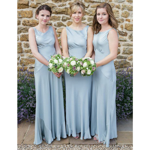 Elegant Formal Simple Cheap Long Wedding Bridesmaid Dresses, WG330 - Wish Gown