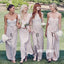 Mismatched Styles A-line Long Bridesmaid Dresses YPS111