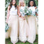 2 Pieces Charming Lace Top Tulle Cheap Long Wedding Bridesmaid Dresses, WG468