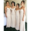 Popular Lace Top Long Elegant Spaghetti Strap Mermaid Bridesmaid Dresses, WG01