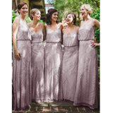 Gorgeous Elegant Beaded Long Cheap Bridesmaid Dresses for Wedding Party, WG159 - Wish Gown