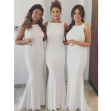 Simple Mermaid Popular Cheap Long Wedding Party Bridesmaid Dresses, WG444