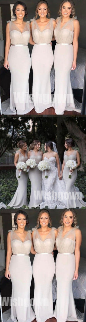 Charming Sexy Mermaid Elegant Inexpensive Wedding Bridesmaid Dresses, WG473 - Wish Gown