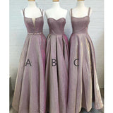 Gorgeous Mismatched Charming Long Wedding Bridesmaid Dresses, WG200 - Wish Gown
