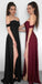 Off the Shoulder Side Slit Cheap Sweetheart Long Bridesmaid Dresses, SG161