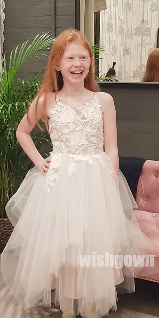 Lovely Pretty Unique Spaghetti Strap  Weding Little Girl Flower Girl Dresses, FGD006