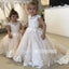 Lovely Pretty Unique Applique Weding  Flower Girl Dresses, FGD007