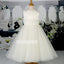 Elegant Pretty White Sleeveless Tulle Wedding Flower Girl Dresses, FGD011