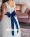 Pretty White Sleeveless Beads Tulle Wedding Flower Girl Dresses, FGD013