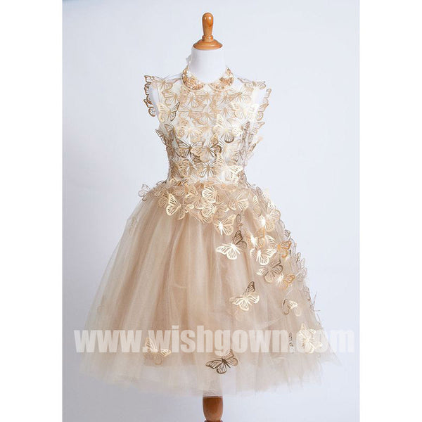 c259a94b464 Cute Butterfly Affordable Tulle Charming Flower Girl Dresses for Wedding  Party