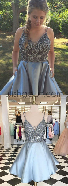 Lovely Beaded Top Popular Cheap Short Homecoming Dresses, BD0061