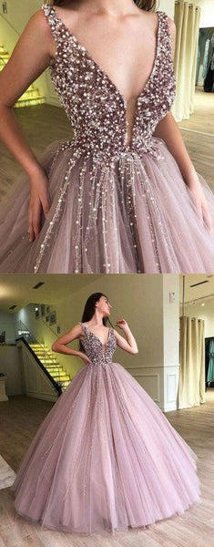 Charming Beaded Inexpensive Popular Evening Ball Gown Long Prom Dress, WG1130 - Wish Gown