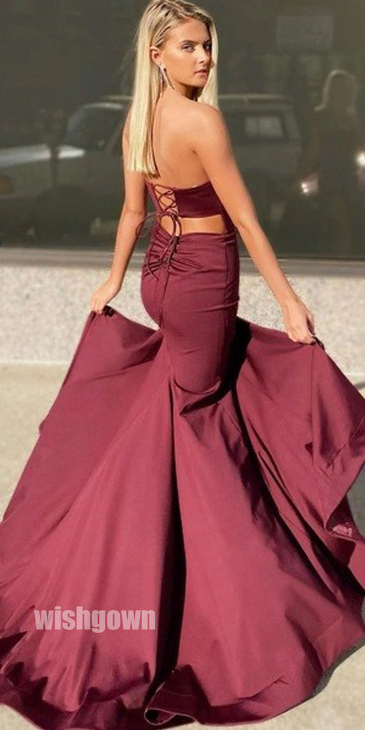 Sexy Sweetheart Split Side Long Prom Dresses PG1187