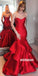 Sexy Red Sweetheart Mermaid Long Prom Dresses PG1227