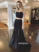Sexy Two Pieces Black Tulle Prom Dresses PG1246