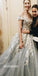 Off the Shoulder Tulle Applique Charming Cheap Long Evening Prom Dress, WG1124