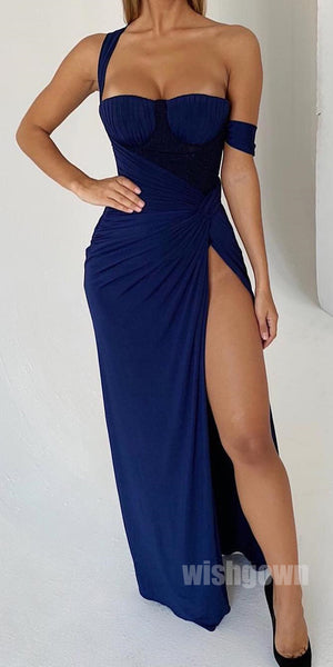 Sexy Unique Side Slit Mermaid Long Prom Dresses, MD1129