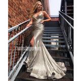 Spaghetti Strap Mermaid Side Slit Long Bridesmaid Prom Dresses PG1122