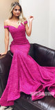 Off the Shoulder Mermaid Long Prom Dresses, MD1114