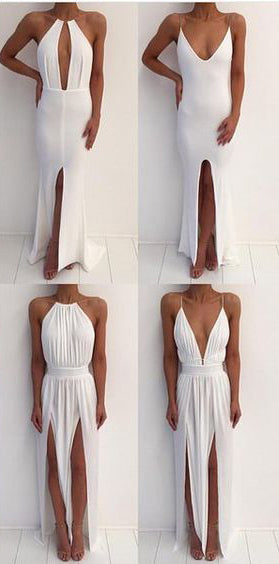 Simple Styles Ivory Sexy Cheap Beach Party Prom Dresses, SG149