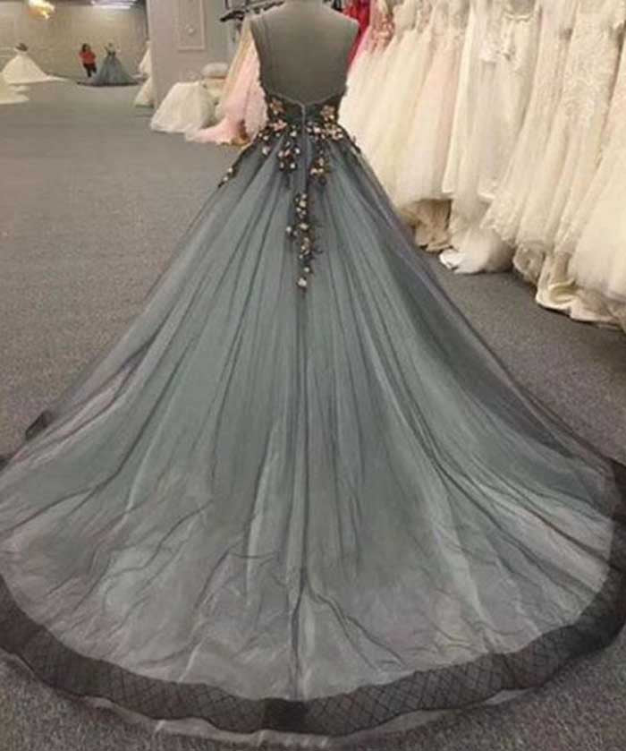 Gorgeous Spaghetti Strap Sweetheart Ball Gown Long Prom Dresses, SG112