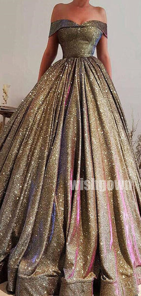 Off the Shoulder Sparkle Long Prom Dresses PG1144
