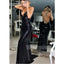 Sexy Black Open Back Sequin Mermaid Cheap Long Prom Dresses, WG1058