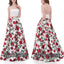 2 Pieces Elegant Unique Flowers Cheap Long Evening Prom Dresses, WG1057
