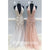 Charming Applique Tulle Hater Mermaid Deep V Neck Long Prom Dresses, WG1092
