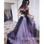 Lace Tulle Sweetheart Charming Long Prom Dresses, MD1111