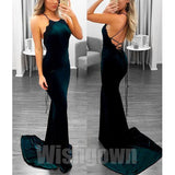 Mermaid Open Back Sexy Inexpensive Cheap Long Prom Dresses, WG1068