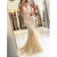 Charming Cap Sleeve Mermaid Pretty Open Back Long Prom Dress, PD0137 - Wish Gown