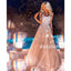 A-line Sweetheart Sparkle Beaded Tulle Long Prom Dresses PG1109