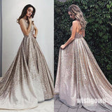 Most Popular Sparkle A Line Pretty Long Prom Dresses, MD1139